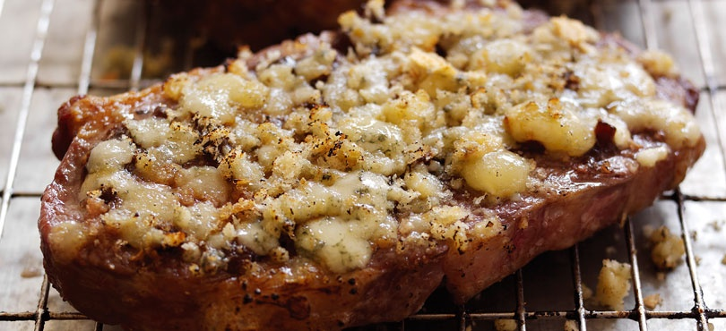 Cheesy Topped Steaks