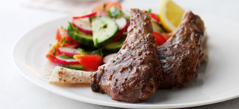 Citrus and Mustard Lamb Chops