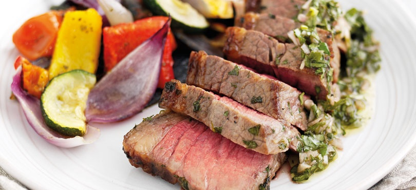 Tri Tip Steaks in a Chimichurri Marinade