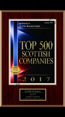 Scobie and Junor Top 500 Business in Scotland.