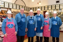 Cabinet Secretary Joins Inverness Q Guild Butcher in Festive Preparations
