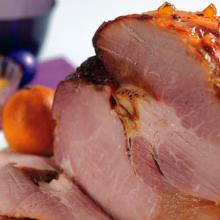Roast Gammon With Ginger Beer, Ginger Glaze And Clementine Relish