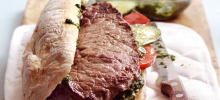 Steak Sandwich with Salsa Verde